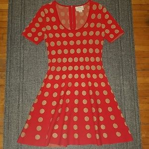 NWOT Anthropologie polka dot sweater dress